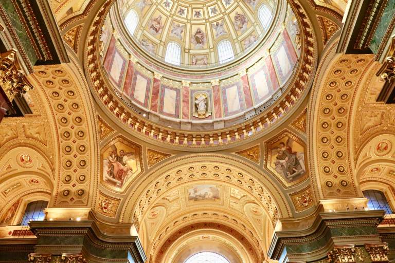 Detail of the ceiling of St. Stephen's Basilica