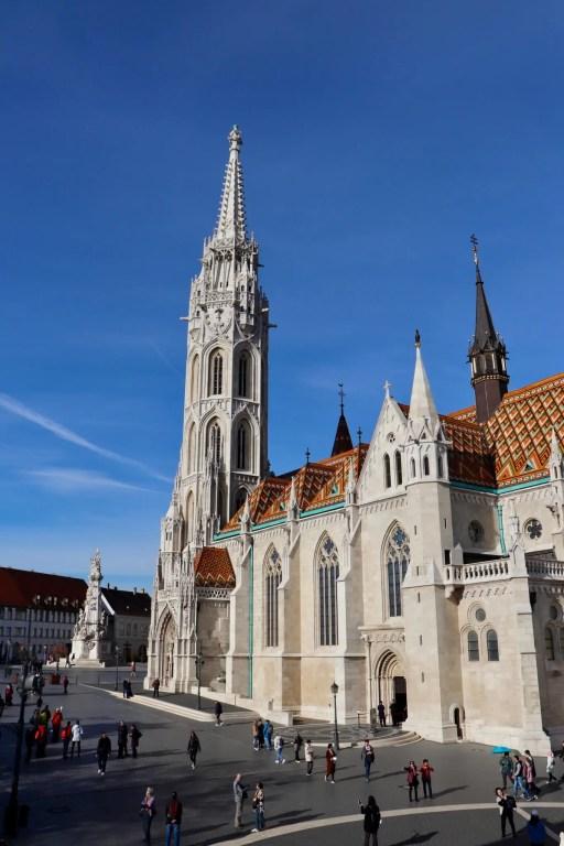 Matthias Church, with Trinity Square beyond.