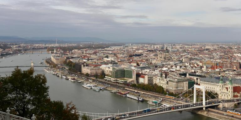 Budapest and the Danube from Gellért Hill