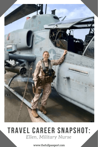 Curious about the life of a military nurse? Read about how Ellen has traveled all over the world in her career as a Navy nurse!