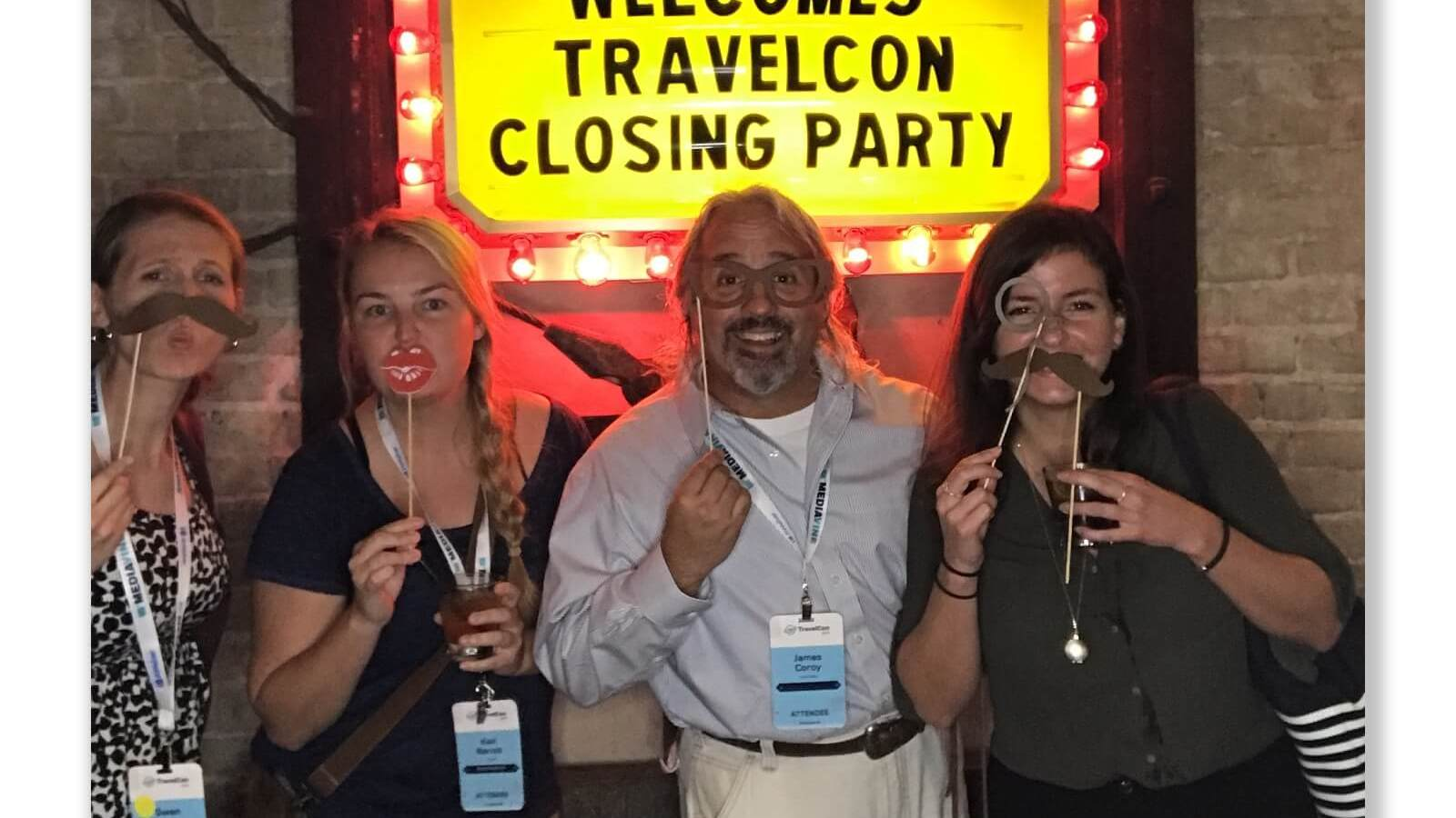 Gwen and friends at TravelCon wrap party