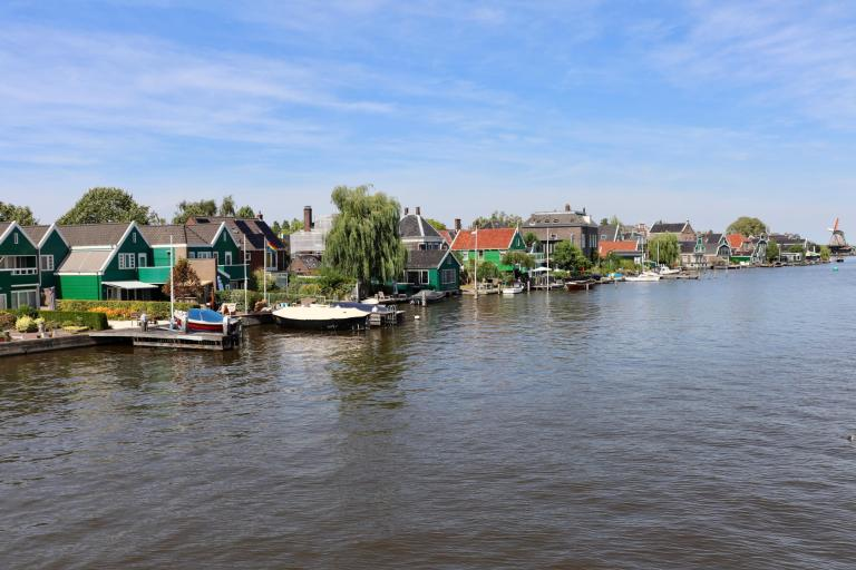 Colorful buildings along the Zaan river