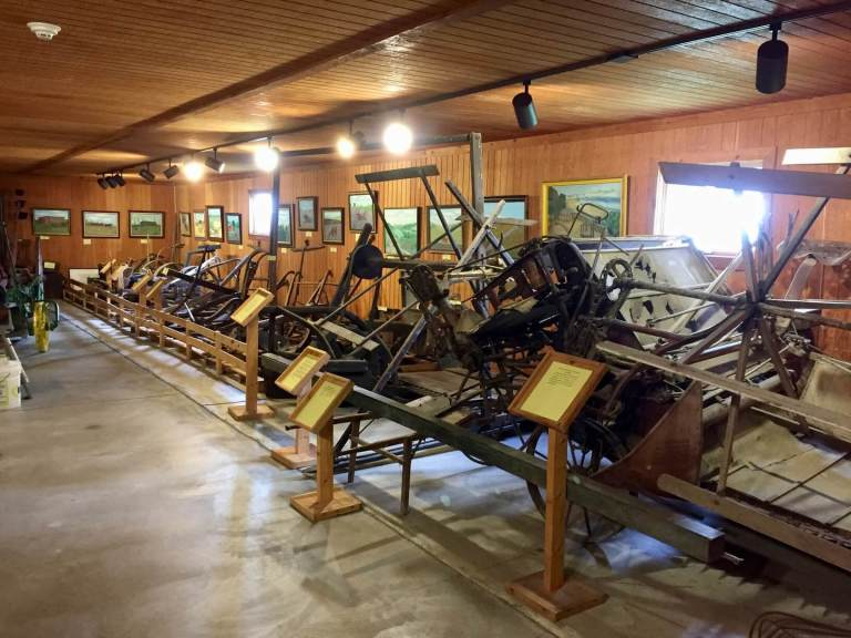 Old farming equipment in the museum