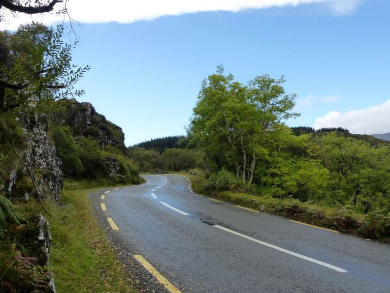 Narrow, winding road on the Ring of Kerry