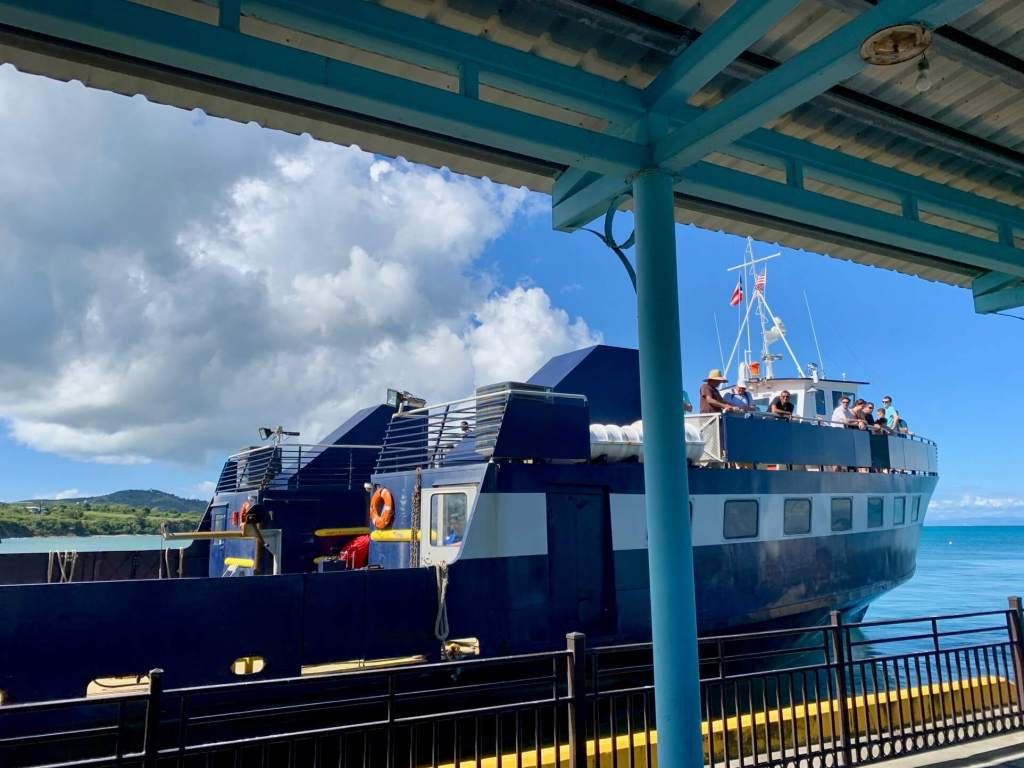 Ferry docked at the terminal in Vieques