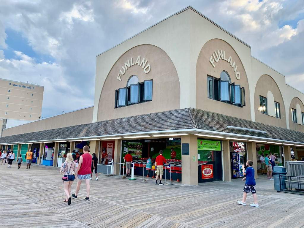 Exterior of Funland, a great thing to do with kids in Rehoboth Beach