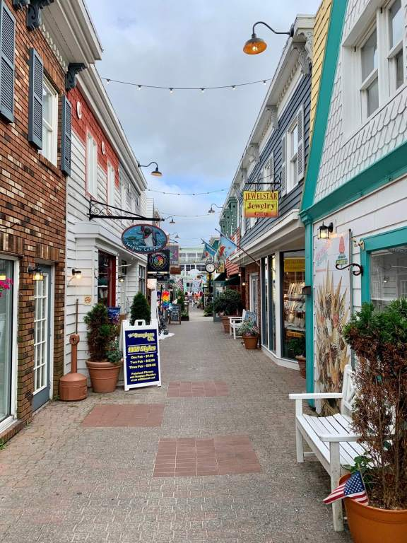 Shops in the charming alley of Penny Lane Mall