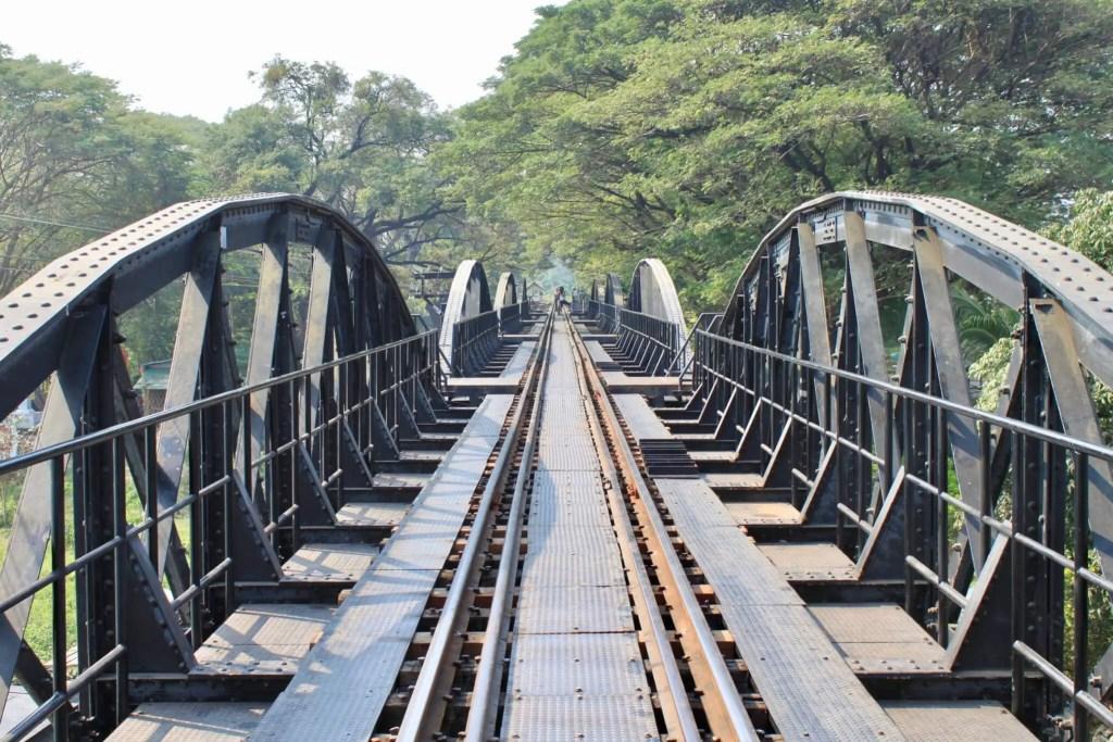 Railroad tracks on the Bridge on the River Kwai