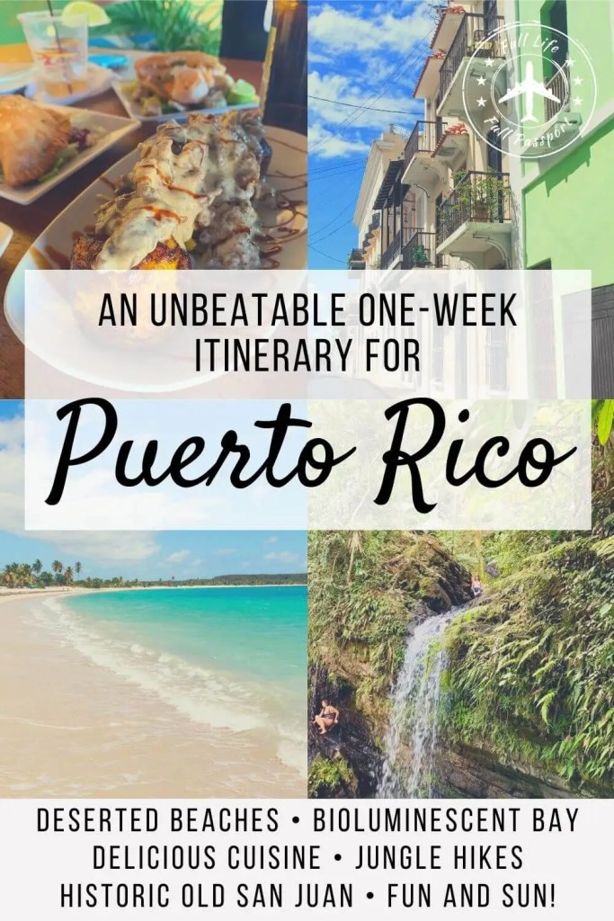 Looking for a great itinerary for Puerto Rico? Learn how to spend one week exploring beautiful beaches and charming San Juan!