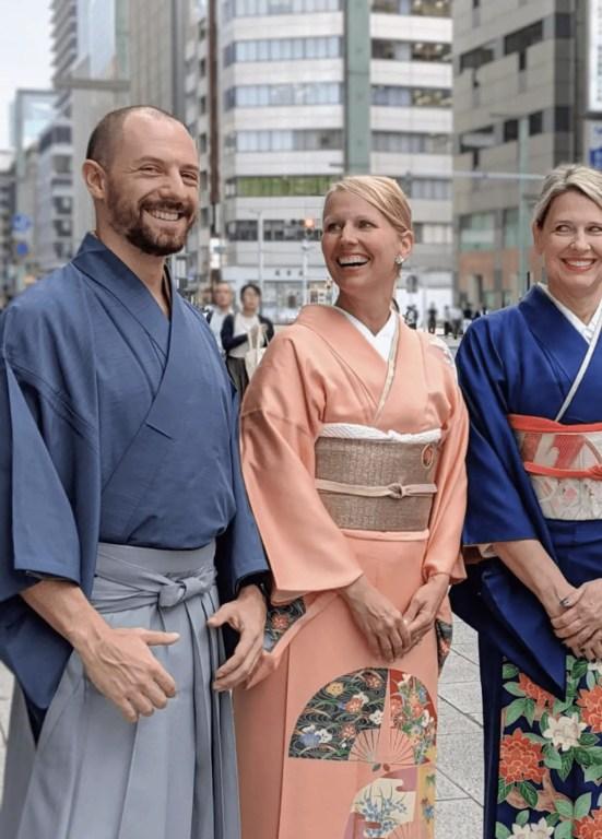 Max in a kimono in Japan