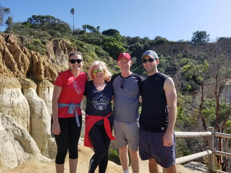 Group photo after conquering one of the best and funnest hikes in San Diego!