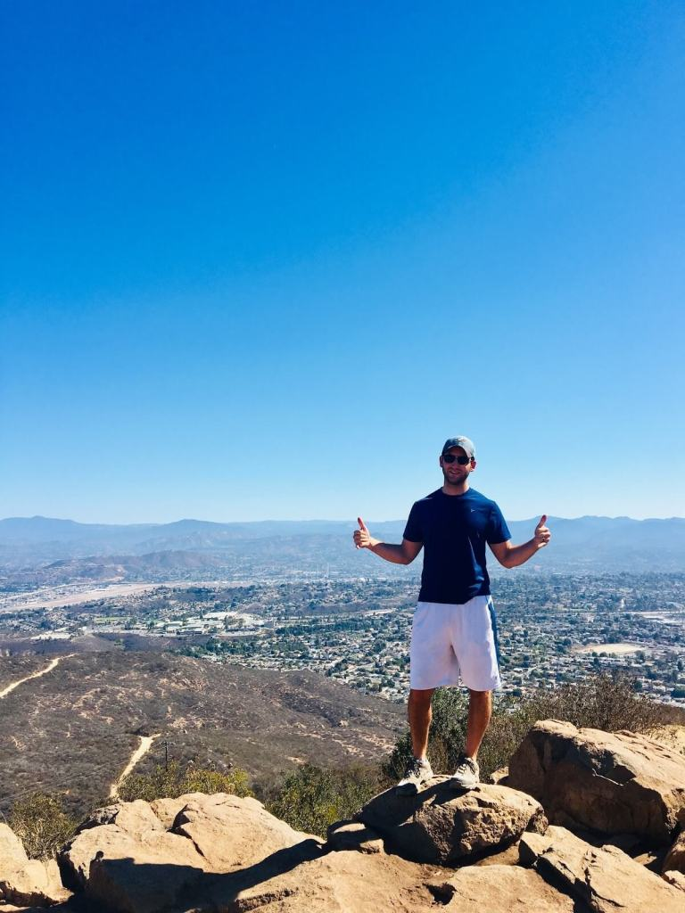 Chad atop Cowles Mountain