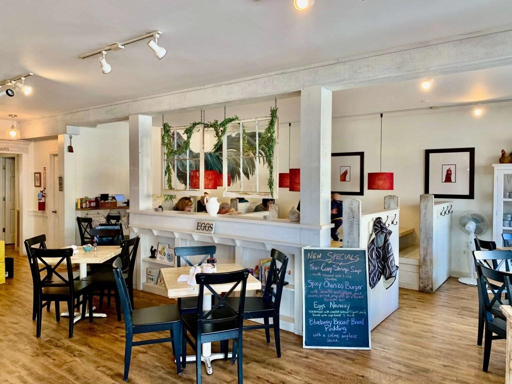 Farmhouse interior of Egg restaurant in Rehoboth Beach