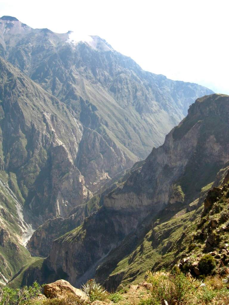 Our first glimpse of steep-sided Colca Canyon