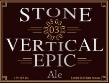 Stone 03.03.03 Vertical Epic Ale