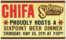 Chifa & Sixpoint Craft Ales Beer Dinner