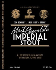 Ken Schmidt Iron Fist Stone Mint Chocolate Imperial Stout