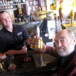 Wynkoop Brewing - Lew Cady (right) buys first Belgorado fourpack
