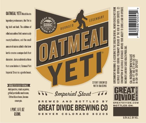 Great Divide Oatmeal Yeti