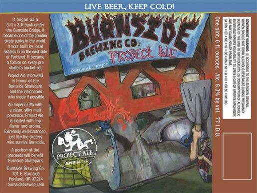 "Burnside Brewing - ""Skatepark"" Project Ale"