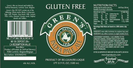 Greens Gluten Free IPA