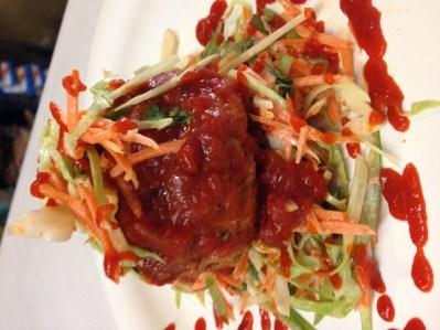 Eastside Market - Pork Sriracha Meatball with Slaw