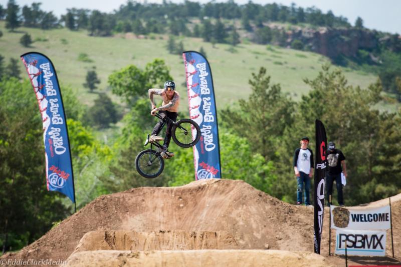 BMX dirt-jumping at the 2014 Lyons Outdoor Games