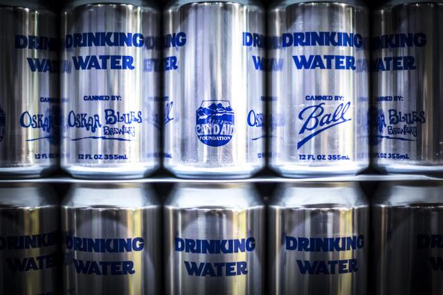 Oskar Blues Drinking Water