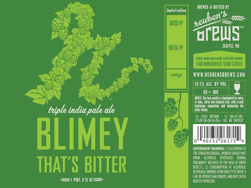 Reuben's Brew Blimey That's Bitter Triple IPA