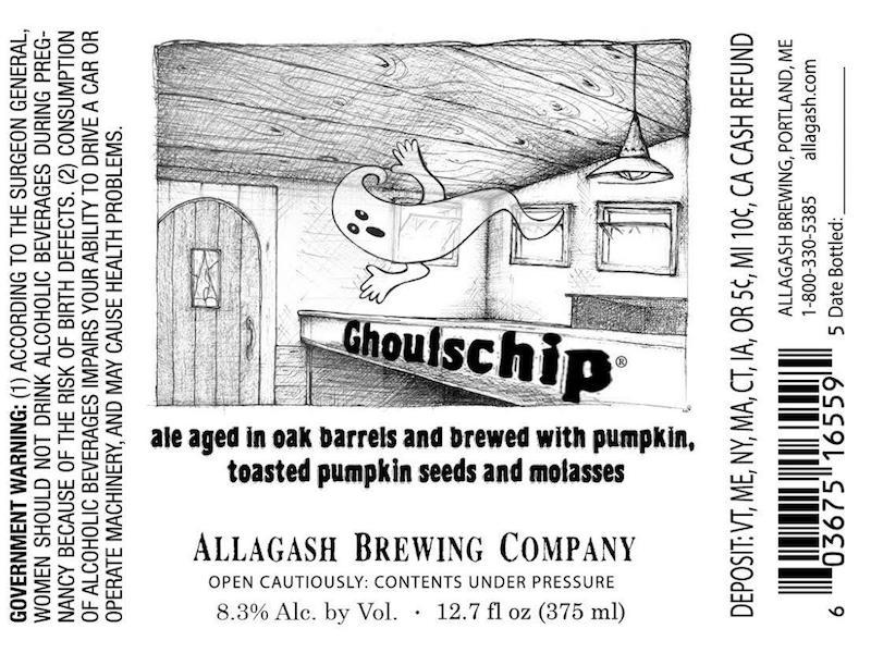 Allagash Ghoulschip Label
