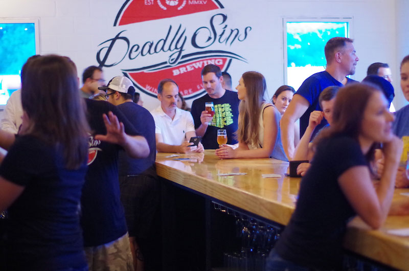 Deadly Sins Brewing Tasting Room