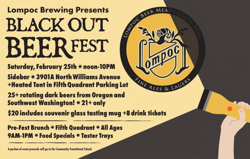 Lompoc Brewing Black Out Beer Fest 2017