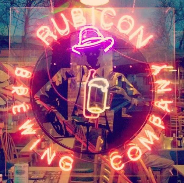Rubicon Brewing Logo Neon