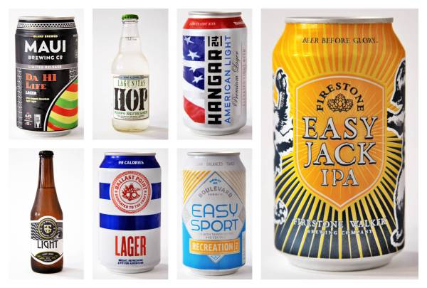 Pictured: Light lager and fitness-minded beers.