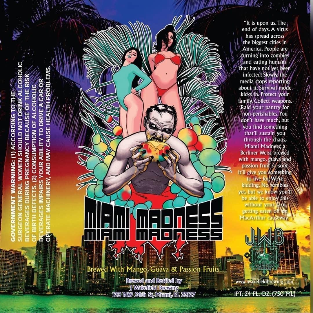 J Wakefield Miami Madness 2019 Label