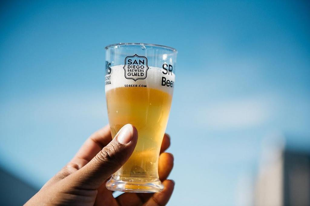San Diego Beer Glass