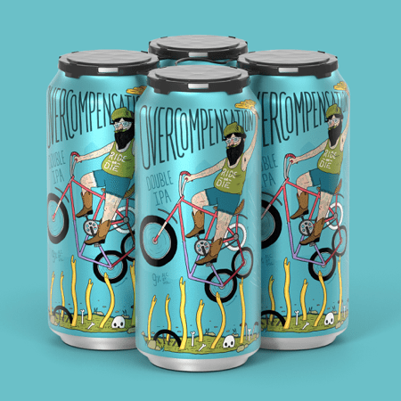 Against the Grain Brewing / Upland Brewing - Overcompensation Double IPA (4 Pack)