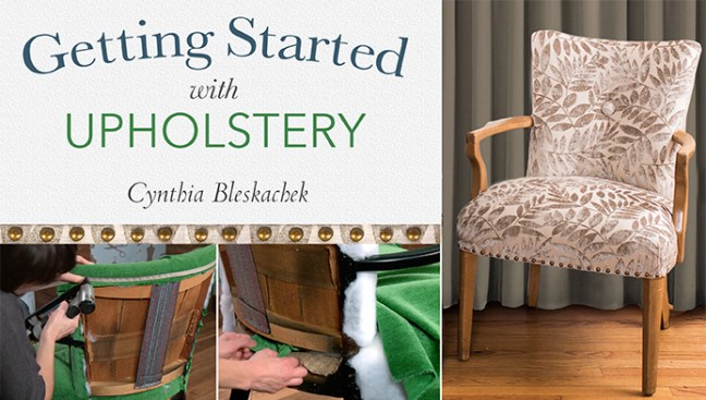 Craftsy getting started with upholstery