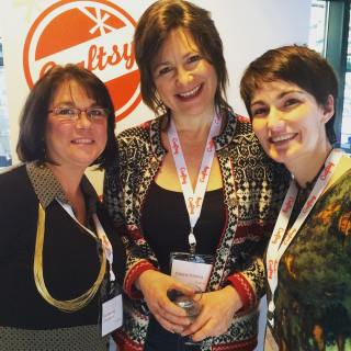 Hanging out with Kim Chagnon and Cherie Killilea at the Craftsy Instructor Summit!