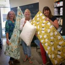 A trio of first boxed/welted cushions!