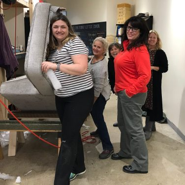Angela, Amy, Gina, Audrie and Rhonda at a three day workshop at The Funky Little Chair