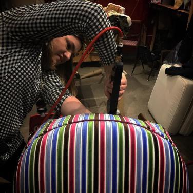 Angela stapling stripes