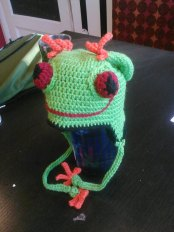 Thaddeus the Tree Frog by Hooked and Chained