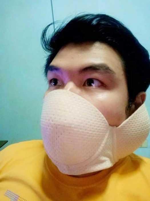 creative diy face masks - bra mask2