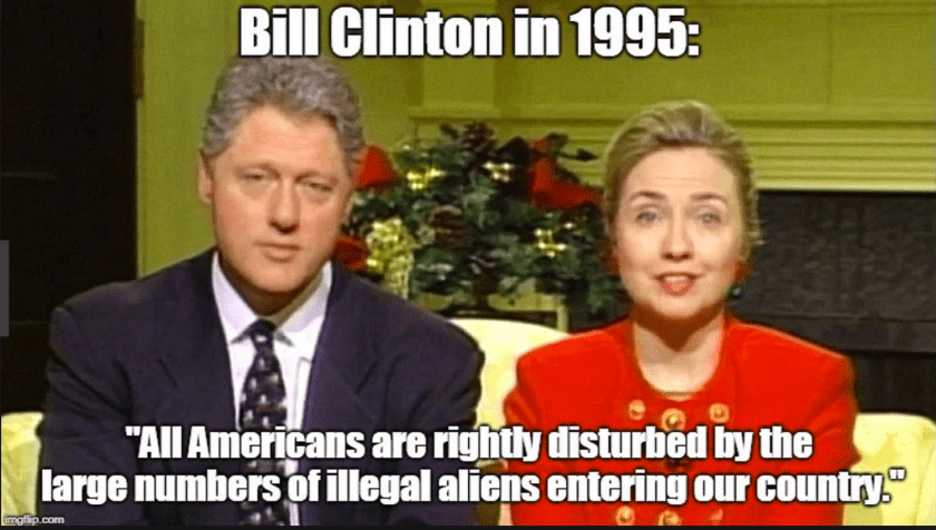 Bill and Hillary on Immigration