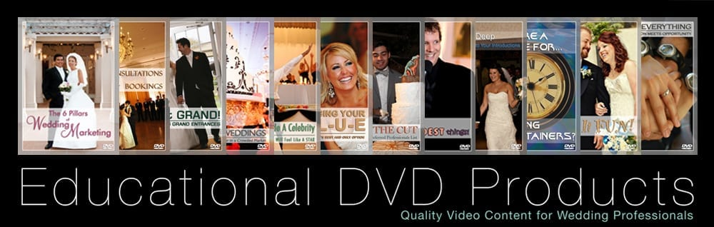 Peter Merry's Educational DVD Products for Wedding Professionals