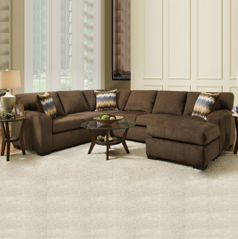 Perth Chocolate Sectional Discount Furniture Portland