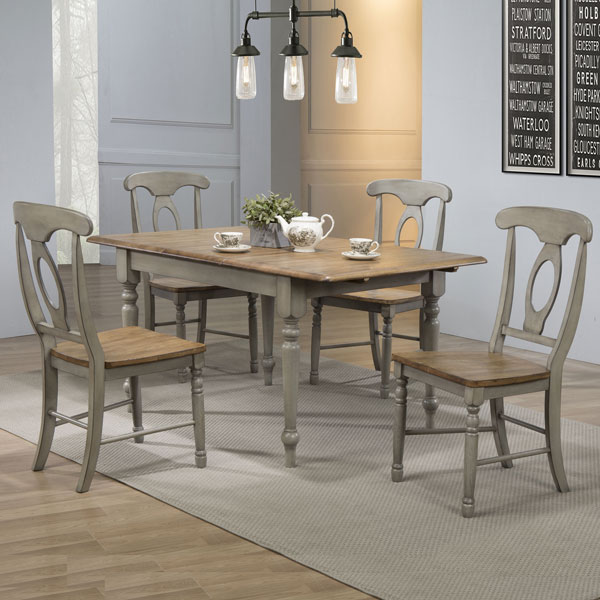 Barnwell Solid Wood Dining Set5 PC Set 899 Discount