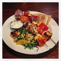 Halloumi and Red Pepper Skewers