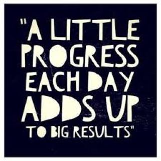 A quote shows that little progress adds up a lot